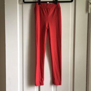 NWT lularoe kids solid red l/xl leggings 4th July